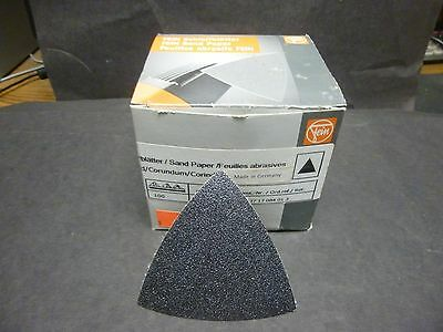 """New in Box, 50 Count of """"Fein"""" Sand Paper Triangles for Multi-Master, Germany."""