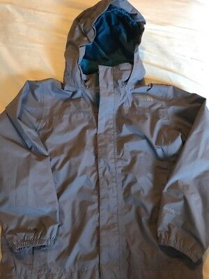 The North Face HyVent Kid's Hood Windbreaker Lightweight Gray Jacket Size XS (6)