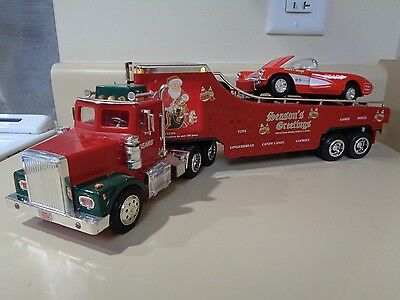 Nib 1999 Sear's Carcarrier Truck W/lights & '58 Corvette, Limit Ed., 1/32