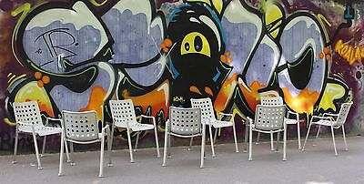 8 x Vintage Industrial Landi Chairs by Hans Coray for MEWA