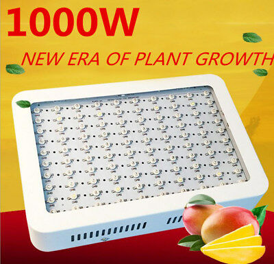 1000W LED Grow Light Panel Lamp for Hydroponic Plant Veg Growing Full Spectrum