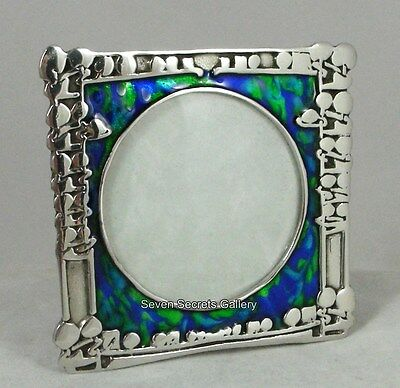 Pewter Art Nouveau Archibald Knox Design Photo Frame 2.3/8 Sq Made in England F4