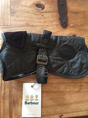 Barbour Quilted Dog Coat Size  X Small