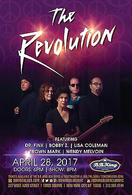 THE REVOLUTION 2017 NEW YORK CONCERT TOUR POSTER-Funk, Rock, Psychedelia, Prince