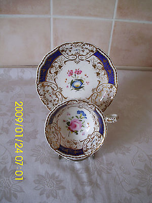 Lovely Antique 1458 Floral Pattern Cup Saucer Duo Set