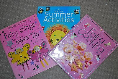 Usborne Activities FAIRY THINGS TO MAKE / FAIRY COOKING / SUMMER ACTIVITIES