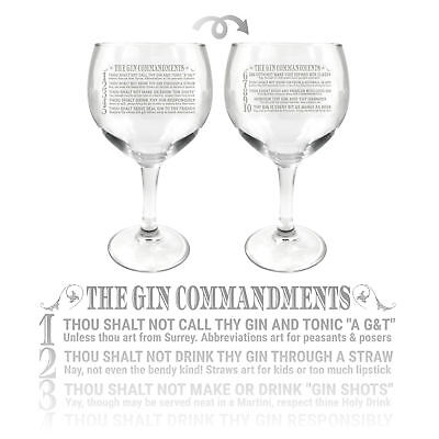 ginsanity 625ml (645ml) Gin ballon verre cocktail - The Gin commandements