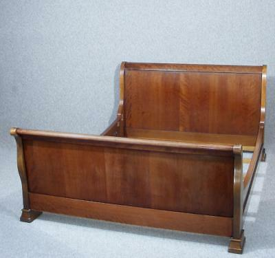 Beautiful Antique Vintage French Cherry King Size Sleigh Bed