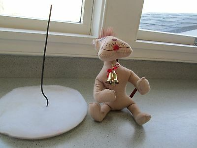 """Annalee Parts For Repair Replacement 1998 Dog W Torn Ear & 6 1/2"""" Base Wire"""