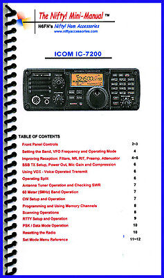 Icom IC-7610 Mini-Manual by Nifty Accessories