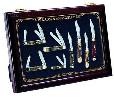 New Case Xx Knives Solid Cherry Countertop 13 X 18 Knife Display Cabinet #3016