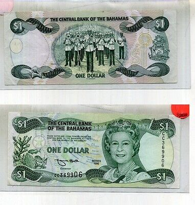 1996 $1 Bahamas Currency Note Cc Series Cu 3869C