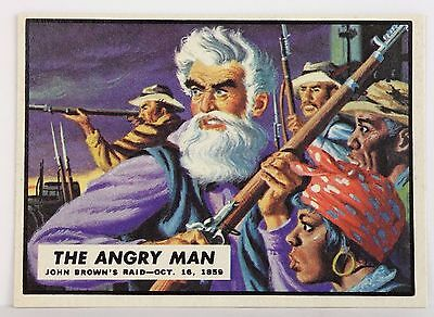 1962 Topps Civil War News - Collectors Trading Card - #1 – The Angry Man.
