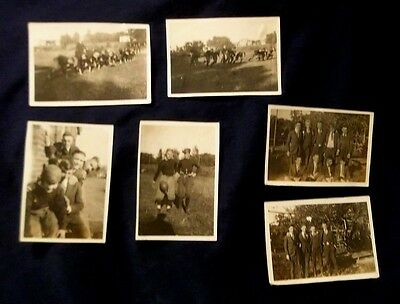 1918,6 Photo's Of High School Football Player's,etc...,muscatine,iowa