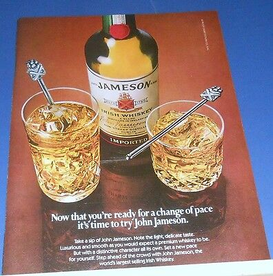 1982 John JAMESON Irish Whiskey Ad ~ now you're ready for a change of pace
