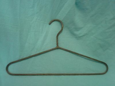 Vintage Heavy Thick Metal Clothes Hanger ...rare!!