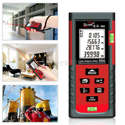 Handheld Digital Laser Point Distance Meter Measure Tape Range Finder 40m UK