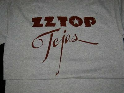 Original Licensed ZZ TOP TEJAS T Shirt Gray ENJOY & GET IT ON