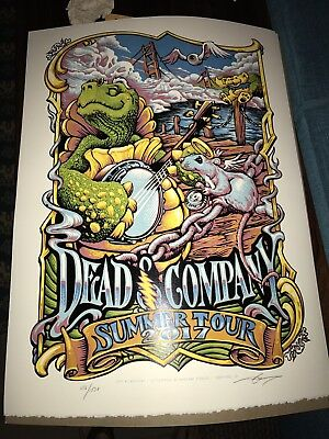 Dead & and Company VIP Poster 2017 Masthay signed numbered John Mayer Bob Weir