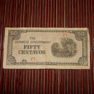 The Japanese Government Fifty Centavos PI (1943 Southern Development Bank Note)