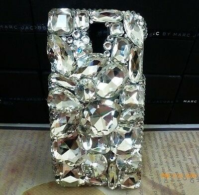 3D Crystal Diamond BLING Hard Case Phone Cover For Samsung Galaxy S6 NEW H2