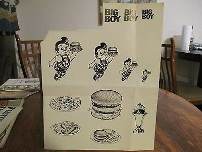 BIG BOY FAST FOOD DISPLAY COUNTER RESTAURANT ADS SIZES RANGE FROM 1x1 TO 2x4