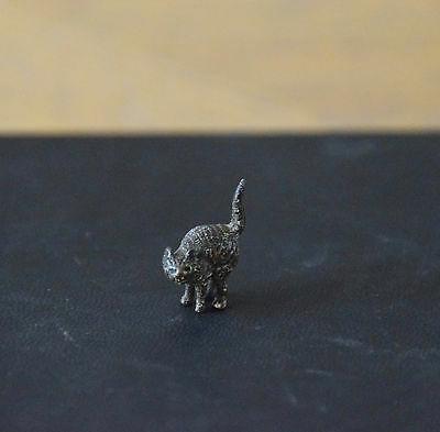 Viennese Cold Painted Bronze Miniature Animal - Cat