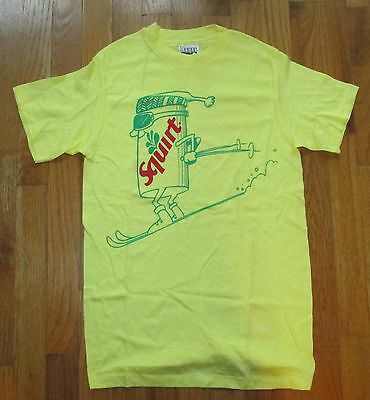 Limited Edition SQUIRT Soft Drink  Snow Ski Character ~ T-Shirt 1980 Advertising
