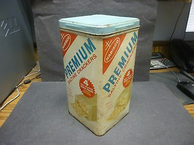 "Vintage Tin Advertising Container, ""Nabisco Premium Saltine Crackers"", U.S.A.."