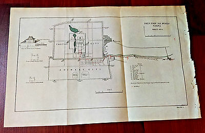 Original 1900 Boxer Rebellion China Imperial City Pekin US Troops Route Map