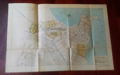 1910 Pacific Division Canal Commission Color Map  Improvements Bay of Panama