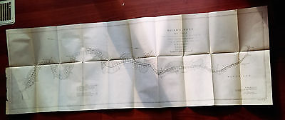 1899 Map of Maurice River New Jersey Millville Lt Col. C.W. Rayomnd U.S. Army