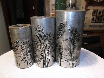 Set 3 Vintage Chazutsu Japanese Tea Canisters Tins Japan