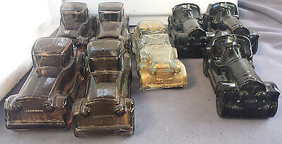Glass Cars Lot of 8 - Empty - Vintage Avon ~ Easy to Paint 4 Craft, Personalize