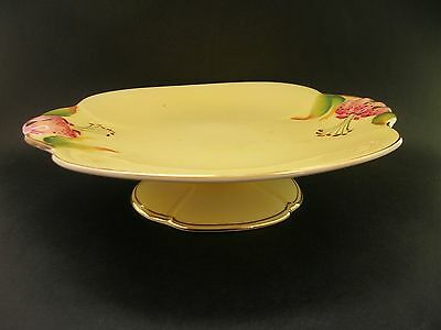 Royal Winton Tiger Lily Vintage China Compote Pedestal Cake Stand Plate England