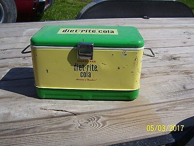 Vintage Old Diet Rite cola cooler Soda Pop Beverage Cooler