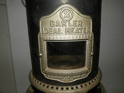 Minty Barler No 2 Kerosene Ideal Heater Early Original 1915 Nickle Plate Brass