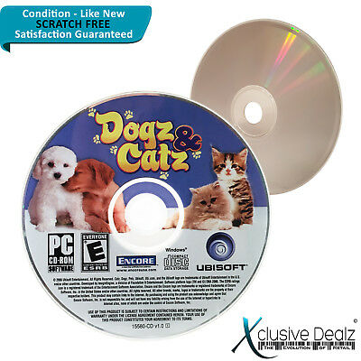 Dogz & Catz PC Windows Game Software CD-ROM - Scratch Free Disc #XD15