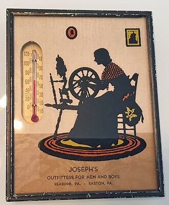Vintage Thermometer Silhouette Picture Joseph's Reading PA Easton PA