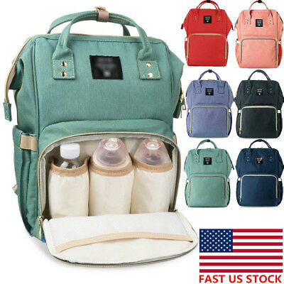 US LAND Large Capacity Mummy Travel Backpack Baby Diaper Bags Nappy Changing Bag