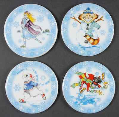 Cardew Design ALICE IN WINTERLAND Set Of 4 Coasters 8793150