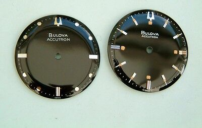Bulova Accutron 214 tuning fork Wristwatch Black Convex Dials New Old stock