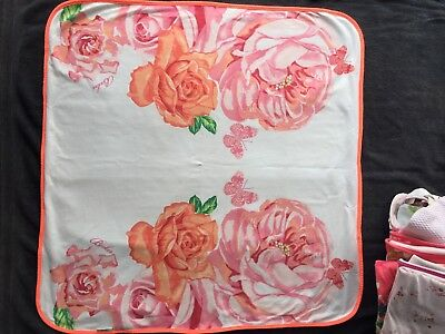 Ted Baker Baby Girls Orange Rose Blanket