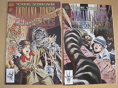 The YOUNG INDIANA JONES CHRONICLES : #s 1,2. 1992 Dark Horse HOLLYWOOD SERIES