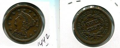 1852 Braided Hair Large Cent Xf 1442H