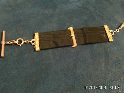 VICTORIAN HALLMARKED 9ct GOLD & SILK  ALBERT CHAIN 10 Grams
