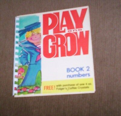 Play & Grow Book 2 Numbers  Folger's Coffee 1976