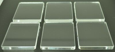 Perspex Stamping Blocks 5mm Thick 6 pack 45mm x 55mm