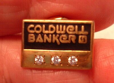 Old 3 Diamonds Caldwell Banker Employee Gold Pin by 'G' USA Banking Insurance