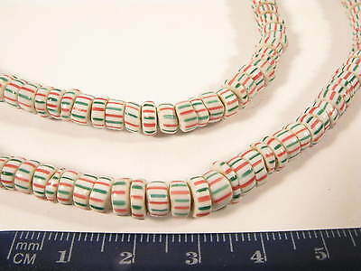 Antike Glasperlen Antique Venetian Glass Trade striped beads A Afrozip